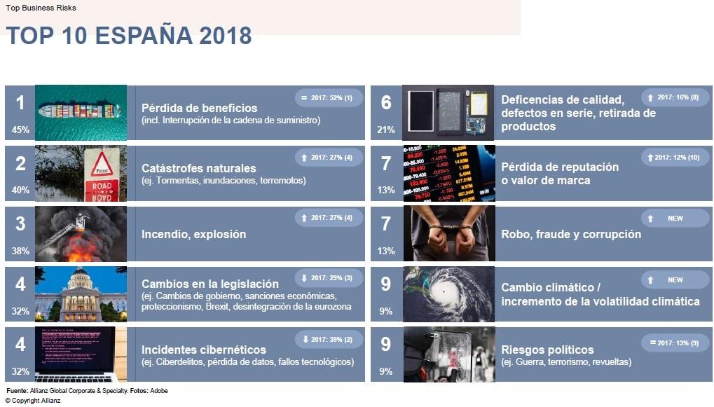 Principales riesgos 2018