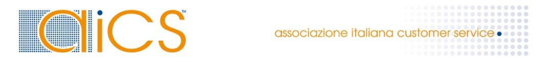 AICS Associazione italiana customer service