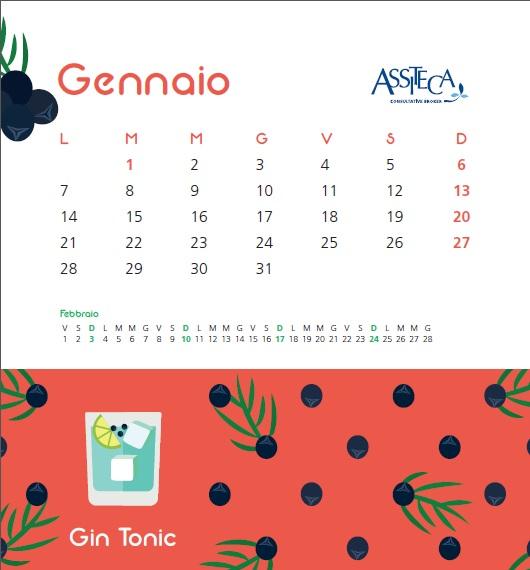 Chi Ha Inventato Il Calendario.Il Calendario Assiteca Per Iniziare Ogni Anno Nel Migliore