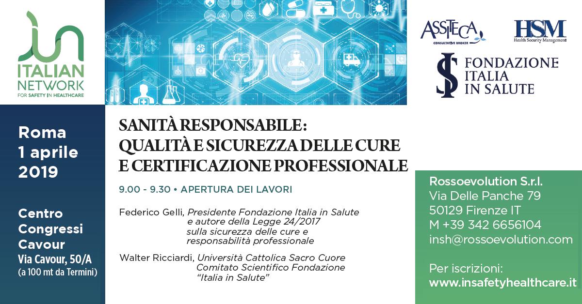 INSH Sanità Responsabile Roma