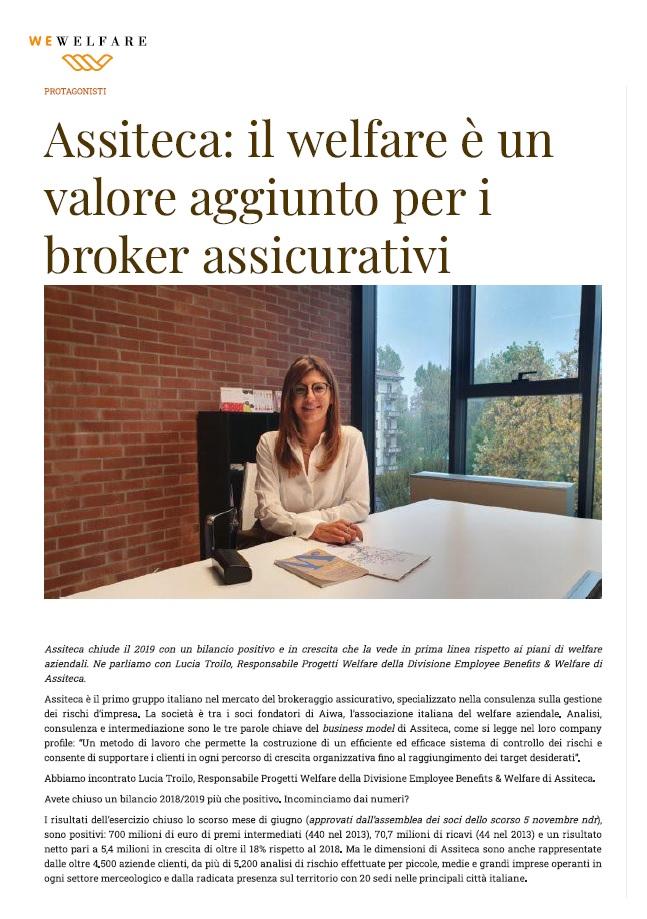 WeWelfare - Intervista Assiteca Welfare è valore aggiunto per i broker assicurativi