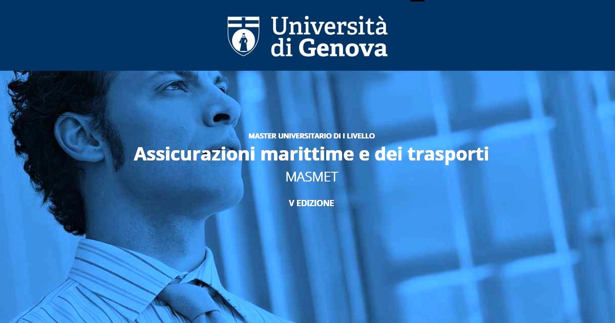 Master Assicurazioni marittime e dei trasporti MASMET
