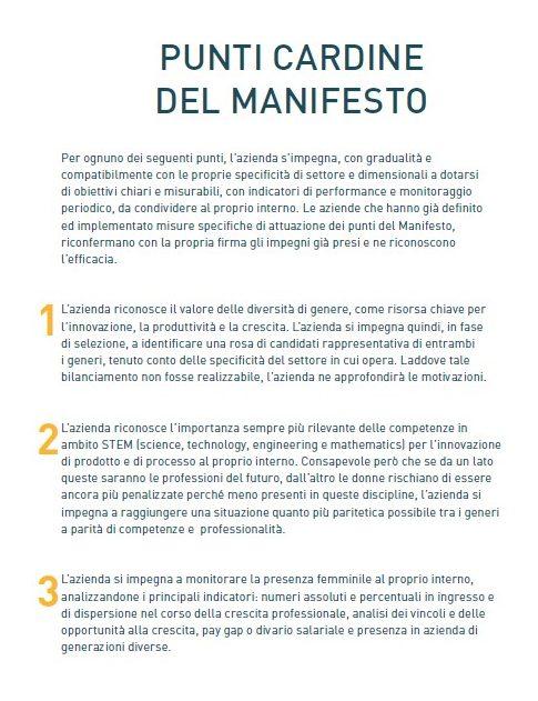 Manifesto Valore D 1