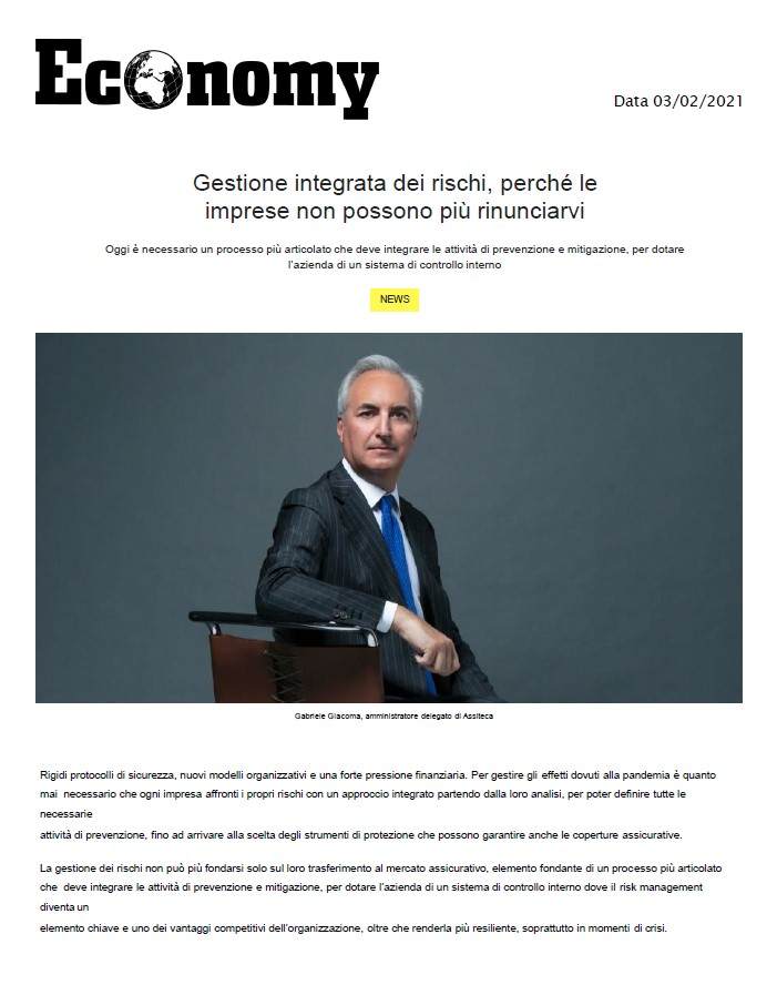 Gabriele Giacoma Gestione Integrata rischi aziendali 02.2021